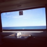 The North Sea from the train